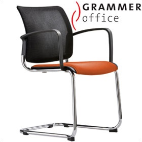 Grammer Office Passu Mesh & Microfibre Upholstered Cantilever Side Chair £181 - Office Chairs