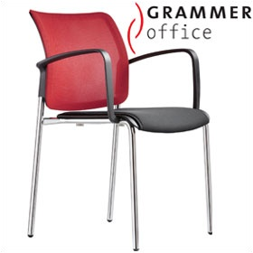 Grammer Office Passu Mesh & Fabric Upholstered 4-Leg Side Chair £151 - Office Chairs