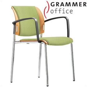 Grammer Office Passu Textile Mesh Upholstered 4-Leg Side Chair £135 - Office Chairs
