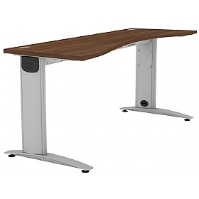 Protocol Shallow Double Wave Beam Desk £288 - Office Desks
