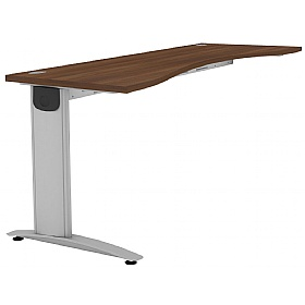 Protocol Shallow Double Wave Beam Desk Extension £202 - Office Desks