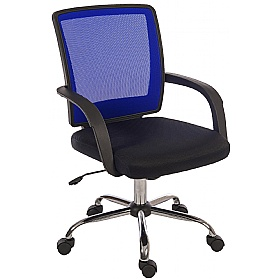 Twist Mesh Back Operator Chair Blue £66 - Office Chairs
