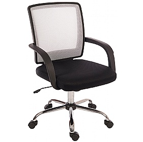 Twist Mesh Back Operator Chair White £66 - Office Chairs