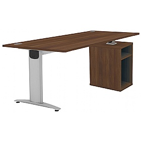 Protocol iBeam Rectangular Desk With Open Pedestal £460 -