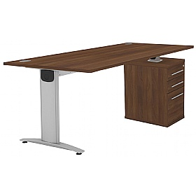 Protocol iBeam Rectangular Desk With High Pedestal £470 - Office Desks