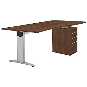 Protocol iBeam Wave Desk With High Pedestal £504 - Office Desks