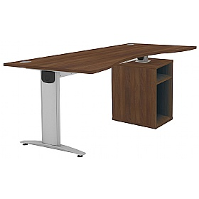 Protocol iBeam Double Wave Desk With Open Pedestal £456 - Office Desks