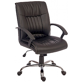 Pescara Leather Look Executive Chair £98 - Office Chairs
