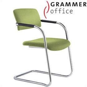Grammer Office Match Textile Mesh Cantilever Chair £190 - Office Chairs
