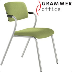 Grammer Office Match Textile Mesh 4 Leg Chair £184 - Office Chairs
