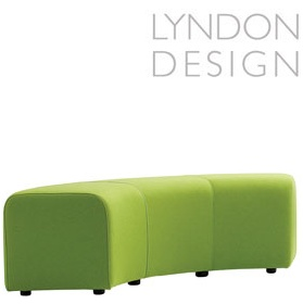 Lyndon Design Teal Curved Stool £575 - Reception Furniture