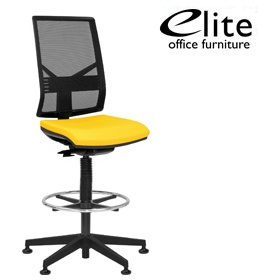 Elite Mix Mesh Back Draughtsman Chair £337 - Office Chairs