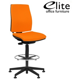 Elite Match Upholstered Draughtsman Chair £277 - Office Chairs
