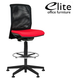 Elite Merge Mesh Back Draughtsman Chair £312 - Office Chairs
