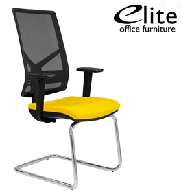 Elite Mix Mesh Back Cantilever Meeting Chair £253 - Office Chairs