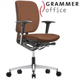 Grammer Office GLOBEline Medium Back Leather Task Chair £274 - Office Chairs