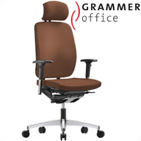 Grammer Office GLOBEline High Back Leather Task Chair With Headrest £355 - Office Chairs