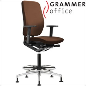Grammer Office GLOBEline Ring Base High Back Leather Reception Chair £423 - Office Chairs
