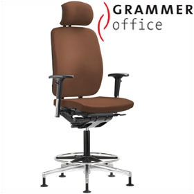 Grammer Office GLOBEline Ring Base High Back Leather Reception Chair With Headrest £498 - Office Chairs