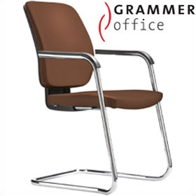 Grammer Office GLOBEline Leather Cantilever Side Chair £226 - Office Chairs