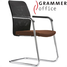 Grammer Office GLOBEline Mesh & Leather Cantilever Side Chair £281 - Office Chairs