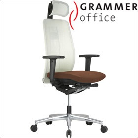 Grammer Office GLOBEline Mesh & Leather Executive Chair £440 - Office Chairs