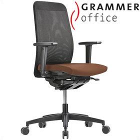 grammer office globeline high back mesh leather task