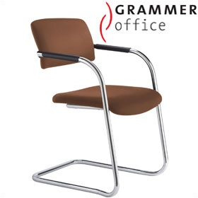 Grammer Office Match Leather Cantilever Chair £165 - Office Chairs