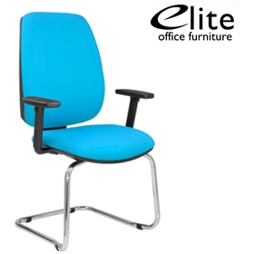 elite worx cantilever meeting chair fabric visitor chairs