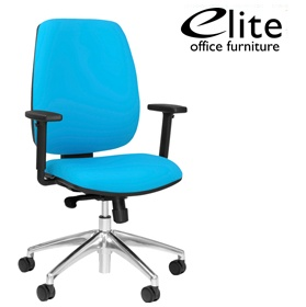 Elite Worx Upholstered Task Chair £217 - Office Chairs
