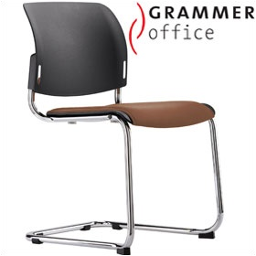 Grammer Office Passu Leather Upholstered Cantilever Side Chair £150 - Office Chairs