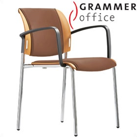 Grammer Office Passu Leather Upholstered 4-Leg Side Chair £123 - Office Chairs