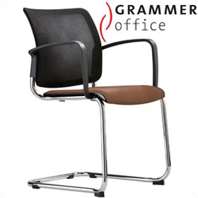 Grammer Office Passu Mesh & Leather Upholstered Cantilever Side Chair £167 - Office Chairs