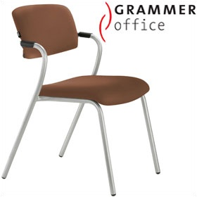 Grammer Office Match Leather 4 Leg Chair £151 - Office Chairs