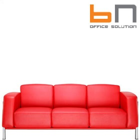 BN Classic Luxury Leather 3-Seater Sofa £2508 - Reception Furniture