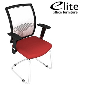 Elite Loreto White Mesh Cantilever Meeting Chair £232 - Office Chairs