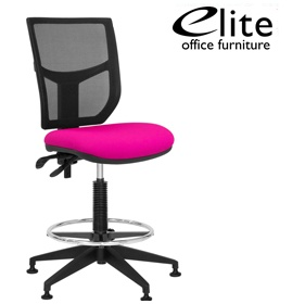 Elite Team Plus Mesh Back Draughtsman Chair £221 - Office Chairs