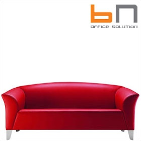 BN Status Luxury Leather 3-Seater Sofa £2092 - Reception Furniture