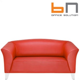 BN Status Luxury Leather 2-Seater Sofa £1849 - Reception Furniture