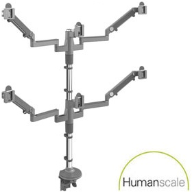 Humanscale M/Flex Sexto Monitor Arms £0 - Office Furnishings
