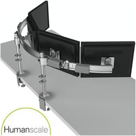 Humanscale Para/Flex2 Adjustable Monitor Arms £353 - Office Furnishings