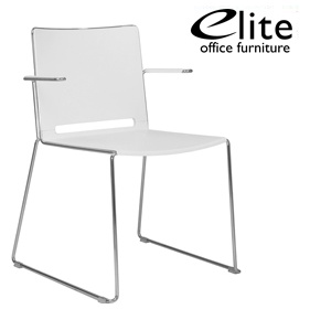 Elite Vice Versa Stacking Chair With Arms £139 - Office Chairs