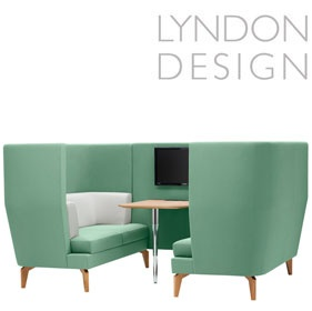 Lyndon Design Entente 2 Seater High Back Booth £5421 - Reception Furniture