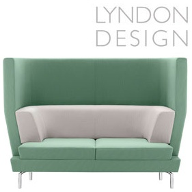 Lyndon Design Entente 2 Seater High Back Sofa £2024 - Reception Furniture