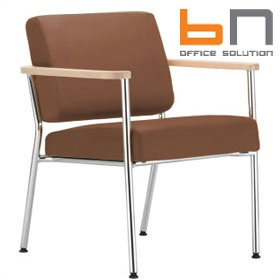 BN Zone Leather Visitor Armchair £272 - Reception Furniture