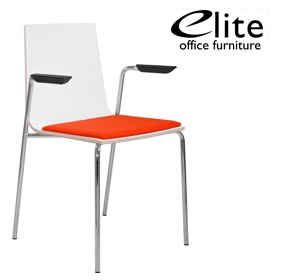 Elite Multiply Upholstered Seat Breakout Chair With Arms £170 - Bistro Furniture