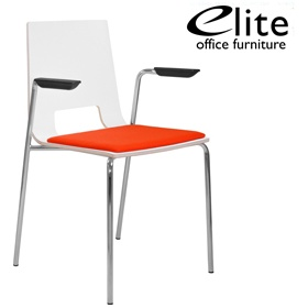 Elite Multiply Open Back Upholstered Seat Breakout Chair With Arms £173 - Bistro Furniture