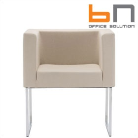 BN Dallas Fabric Skid Base Visitor Chair £412 - Reception Furniture
