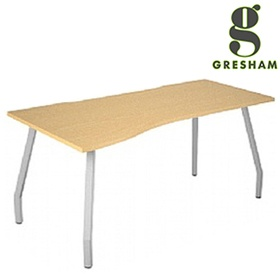 Gresham Script Curved Wave Desks £225 - Office Desks