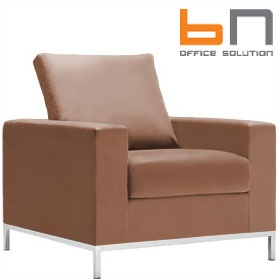 BN Concerto Leather Reception Armchair £750 - Reception Furniture